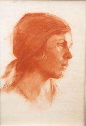 Портрет девушки в косынке