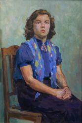 Портрет девушки в синей блузке