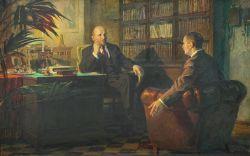 Ленин беседует с Гербертом Уэллсом